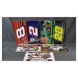 Nascar Themed Plastic & Metal License Plates
