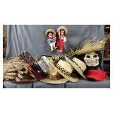 Mexican Marionettes, Straw Hats, Costume