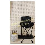 Small Propane Bottle & Folding Chair