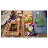 Christmas Gift Bags, Bows, Ribbon & Wooden Tree