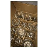 "8"" Indiana glass lamp base full case of 12"