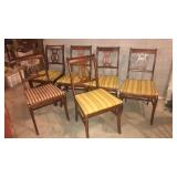 Set of 6 Cherry dining chairs- good shape, seats
