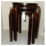 Vintage Bentwood Legs Stacking Side Tables