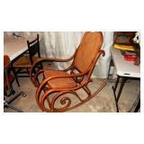 Original Thonet Rocking Chair Damaged Seat