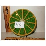 Poured Resin Trivet Lime Slice