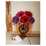 Acrylic Flower Cart Plaque