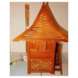 Rattan Bamboo Tiki Hut Lamp 1 of 2