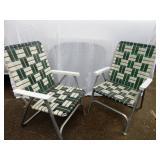 Pair of Aluminum Folding Lawn Chairs
