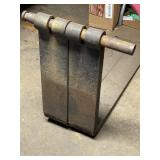 "Metal forks 38""long 22t 5""w shaft 1.5"""