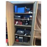 Metal cabinet 36w77t24d  no contents cabinet only