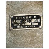 Phase 2 arbor press  working
