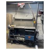 Miller welder welding table on wheels lift