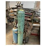 Acetylene torch set on cart and contents