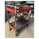 Snap on roll cart with air hose hook ups