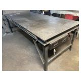 Large welding table 97L 40.25w 30.5t