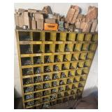 Bolt bin with contents 35.5w 42t 12d