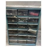 Assorted organizer with VW parts  14.5w18t6.5d