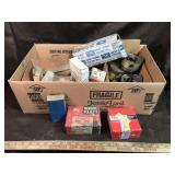 Assorted engine bearings and pistons
