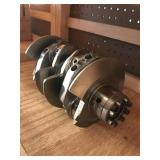 Counter weighted 8 dowel crank