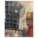Large lasso fan Working