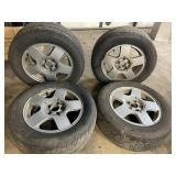 "VW 15"" wheels w/tires no center caps"