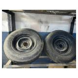 5 lug tires 205/75/D14 trailer use only worn used