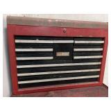 "Sears Craftsman toolbox on wheels 58""t 27w 18""d"