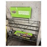 Interstate batteries empty rack