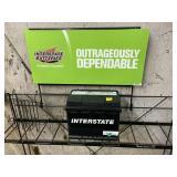 New on shelf interstate battery M-47/h5 side post