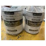 Simply home 2 gallons pure white paint new
