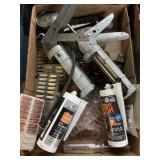 Caulk guns Tools box lot