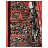Tap and die sets lot 1/2  are snap-on