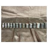 Snap on and Mac 6 point sockets 1/2 drive metric