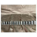 Snap on 12 pt  1/2 drive  metric shallow