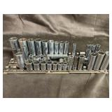 Assorted lot of miscellaneous sockets snap on and