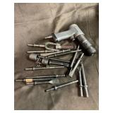 Snap on air hammer  and assorted bits