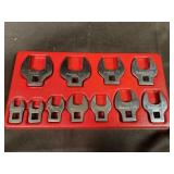 Snap On 11Pc 3/8 Dr Open End CrowFoot Set