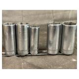 Snap on deep well 6 point sockets metric 3/8dr