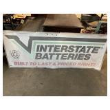 Interstate batteries tin sign 60L 24t