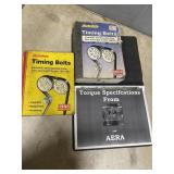 Timing books and torque book