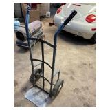 Hand truck solid wheels