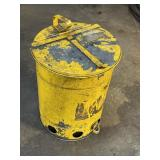 Yellow 5 gal foot step trash can