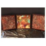 Hand Made Tapestry in Shadow Box with Storage