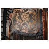 Silk with fringes Large Scarf