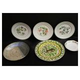 small lot of plates and saucers