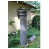 "stone pilar lawn décor 65""by19"""