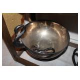 broken handle. Silver Swan handle serving bowls
