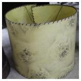 Mid-Century Spun Fiberglass Lampshade With Brush S
