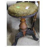 Swivel Piano Stool With Cast Metal Feet And Felt T