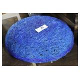 Cobalt Blue Spun Lucite Light Fixture